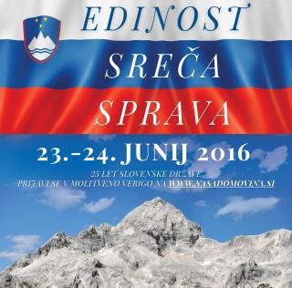 Ljubljana, 23.6.2016: MOLITEV IN POST ZA DOMOVINO 2016